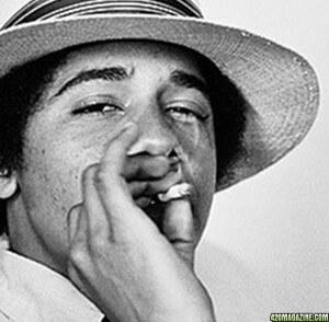 אובמה מעשן מריחואנה