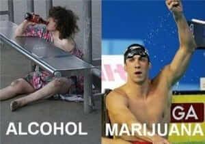 אלכוהול מול מריחואנה