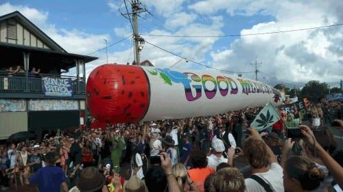 Het Mardi Gras-festival in Nimbin