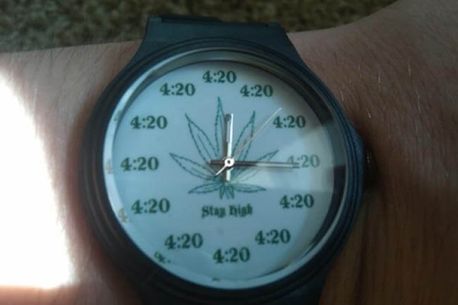 The 4: 20 time. It was time to light something up