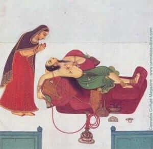 לונגינג: ציור מהמאה ה-18, עידן ראג'פוט