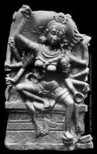 קלי, אלת החשיש והמין העתיקה, ממקדש הודי מהמאה ה-12