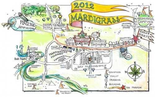 מפת האירוע - מרדי גרא 2012