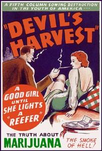 """""""צמח השטן"""" - כרזה מעוותת שלקחת חלק במערך כנגד הקנאביס בשנות ה-30"""