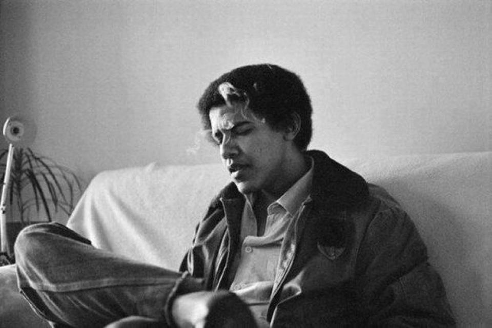 ברק אובמה בצעירותו
