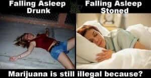 שינה תחת השפעת אלכוהול מול שינה תחת השפעת מריחואנה