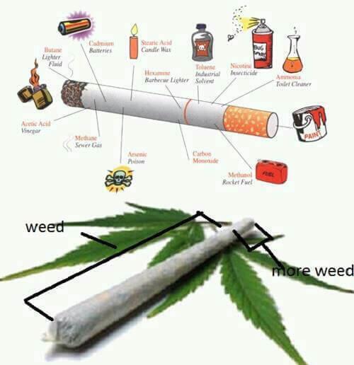 סיגריות VS קנאביס