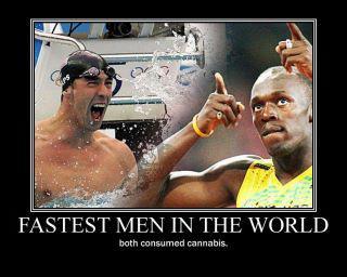 האנשים המהירים בעולם - שניהם צרכו מריחואנה