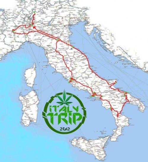 טריפ איטלקי - מפת המסע