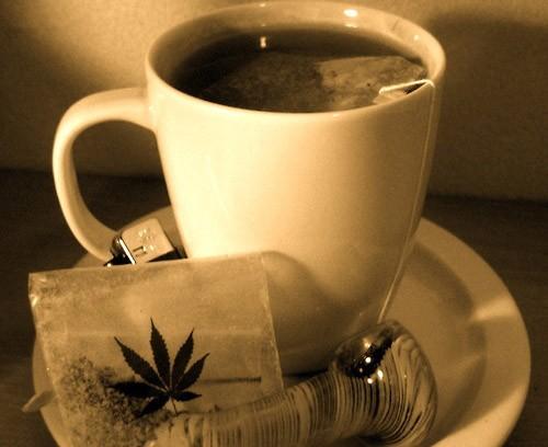 כוס תה קנאביס