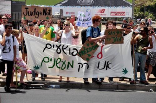 מתוך ההפגנה למען לגליזציה שנערכה בחודש מאי 2010
