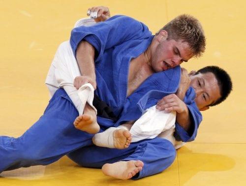 ניק דלפופולו באחד הקרבות באולימפיאדה