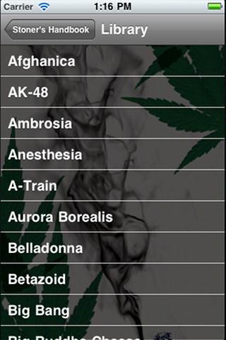 זנים בסדר אלפביתי - Marijuana handbook