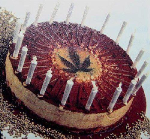 עוגת מריחואנה עם ג'וינטים