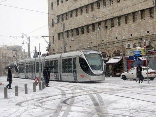 שלג בירושלים. שמחה ליבוביץ