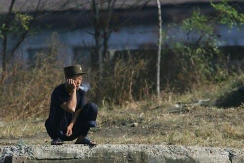 חייל צפון-קוריאני בהפסקת ג'וינט