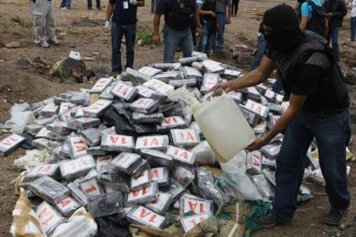 שריפת סמים בהונדורס