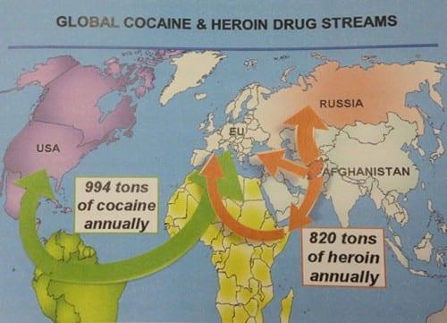 התפשטות הרואין מאפגניסטן למדינות המערב