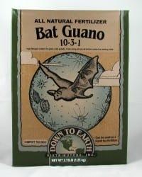 גואנו עטלפים - שימו לב לערך החנקן הגבוה