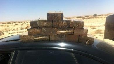 "Photo of מדינה ביובש: מעל 100 ק""ג חשיש נתפסו בגבולות מצרים וירדן"