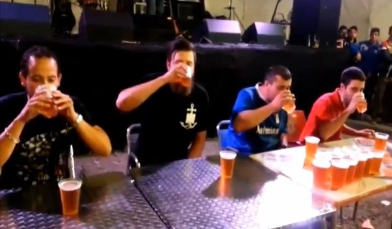 תחרות שתיית בירה בספרד