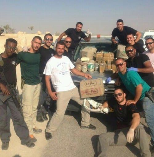 151 קילוגרם חשיש בגבול מצרים