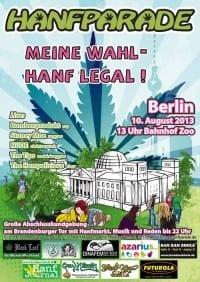 צעדת הקנאביס בברלין - Hanf Parade 2013