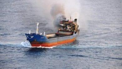 Photo of שריפה בלב ים: אוניה עם 30 טון מריחואנה עלתה באש