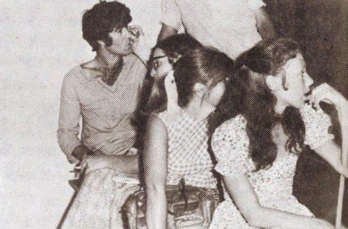 ג'וזי כץ (ימין) ושמוליק קראוס בהמתנה בבית-משפט השלום