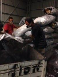 משלוח חשיש בתוך פחם ניצנה