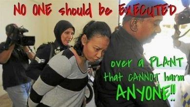 Photo of עצומה: ביטול עונש המוות שהוטל על אשה שנתפסה עם מריחואנה במלזיה