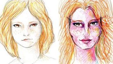 Photo of אשה מציירת את עצמה תוך כדי טריפ LSD