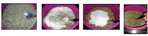 מצע ורמקוליט וקמח אורז מלא