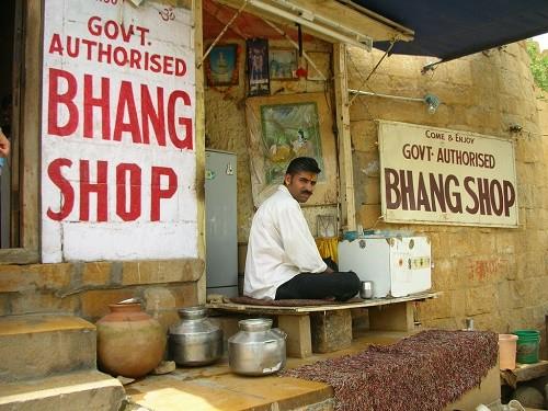 חנות בהאנג באישור ממשלתי בראג'אסטן, הודו
