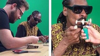 Photo of סת' רוגן וסנופ דוג מעשנים מריחואנה