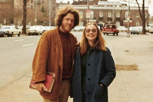 ביל והילרי קלינטון בצעירותם