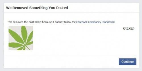 מגזין קנאביס נמחק מפייסבוק
