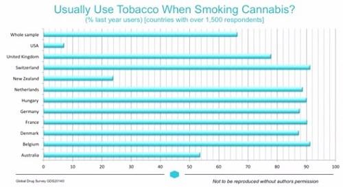 רוב העולם המערבי משלב טבק בקססה