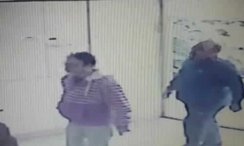 החשודים נתפסו במצלמות האבטחה