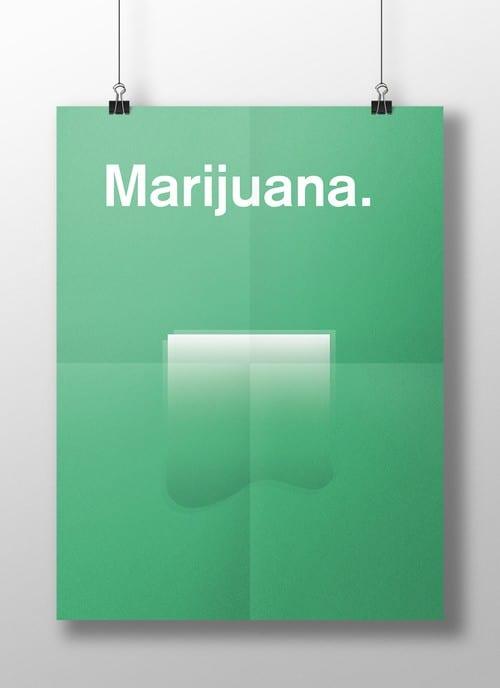 פוסטרים זה המוח שלך על סמים