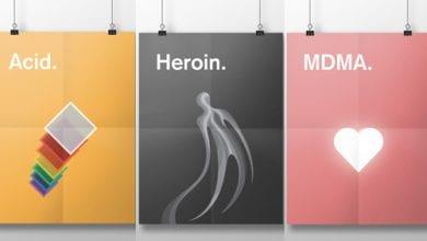 Photo of סדרת פוסטרים מציגה את השפעתם של סמים שונים
