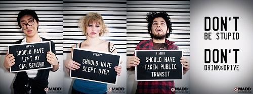 פרסומת של ארגון MADD נגד נהיגה בשכרות