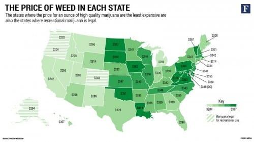 מחירי מריחואנה באמריקה