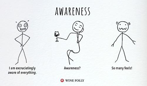 השפעות הקפה, היין והקנאביס: מודעות