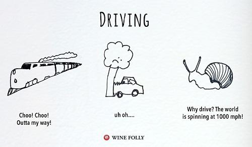 השפעות הקפה, היין והקנאביס: נהיגה