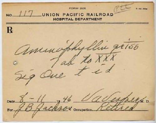 כתב יד של רופא