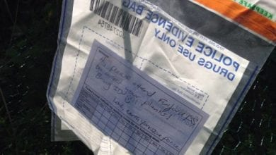 "Photo of ""באהבה, המשטרה"": שוטרים מצאו קנאביס – והשאירו פתק לגנן"
