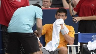 "Photo of ג'וקוביץ': ""ריח מריחואנה הפריע לי במשחק"""