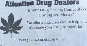 מודעה לסוחרי סמים