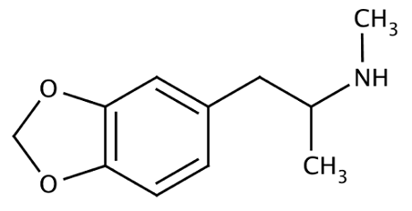 MDMA: נוסחה כימית - Methylenedioxymethamphetamine